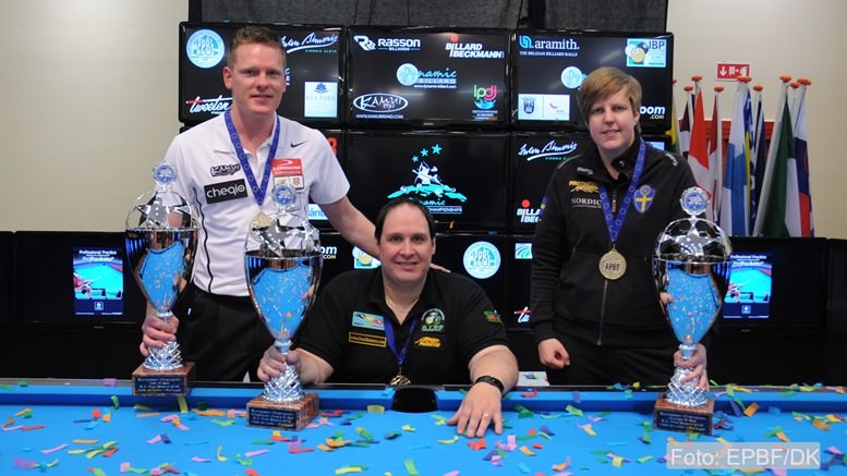 2015 EC - 8-ball Gold Medals for Feijen, Roos and Dinsmore