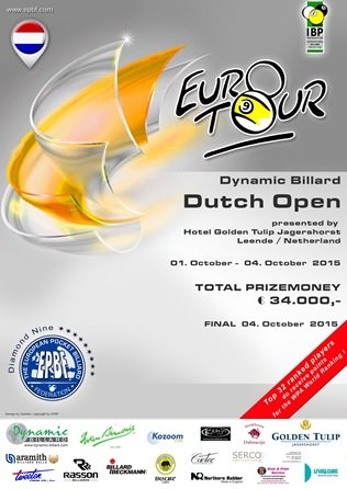 2015 Eurotour - Dutch Open Poster