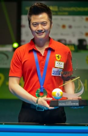 2015 WC 9-Ball Final - Ko Pin Yi with Trophy