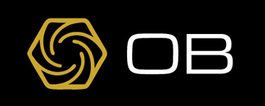 OB Cues logo with Black background 373x150