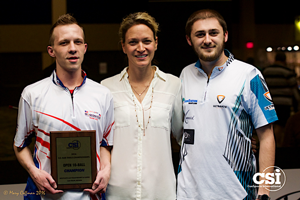 2016 US Bar Table 10-Ball - JustinBergman and Skyler Woodward