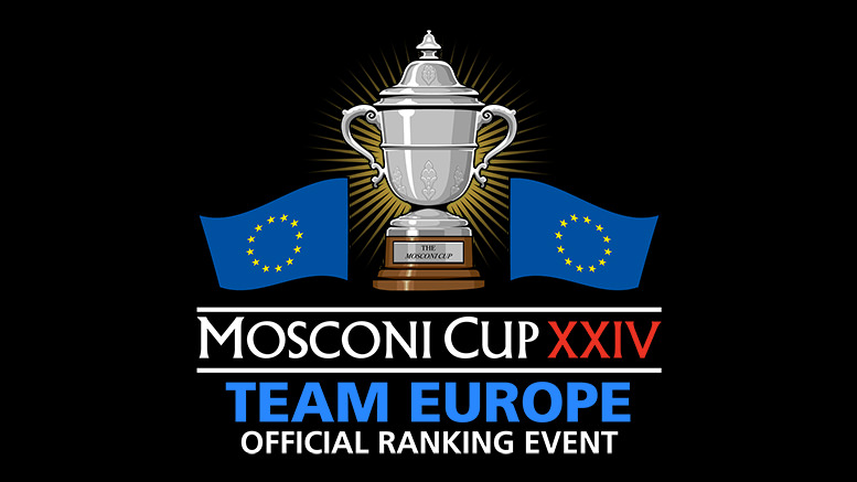 2017 Mosconi Cup Team Europe logo - Official Ranking Event 777X437