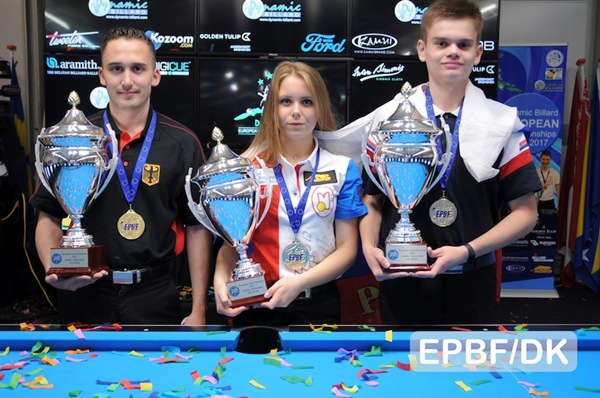 2017 Holland EC Youth - Tkach, Shkudov and Hofmann win the 10-ball titles