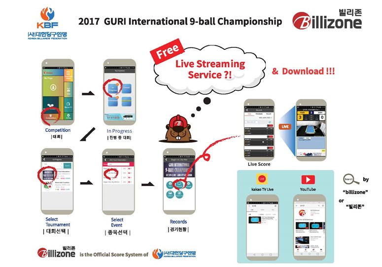 2017 Guri International 9-Ball Championship - How to Billizone Live 775x541