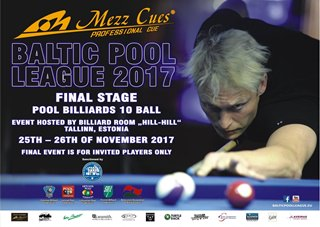 2017 Baltic Pool League - Final Stage Tallinn Estonia Poster w320