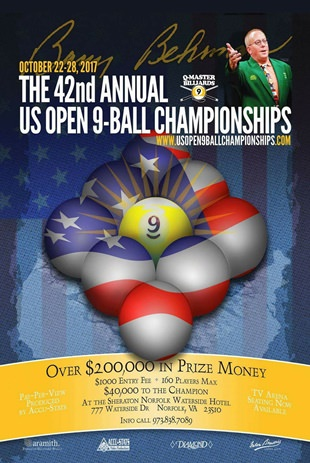 2017 The 42nd Annual US Open 9-Ball Championshups Poster