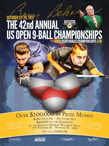 2017 US Open 9-Ball Championships - Europeans on a flow Day 1