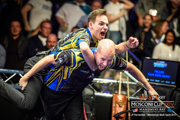 2017 Mosconi Cup Day 2 - 05 Joshua Filler and Nick Van den Berg
