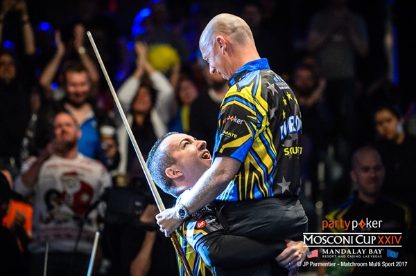 2017 Mosconi Cup Day 3 - 05 David Alcaide and Ralf Souquet