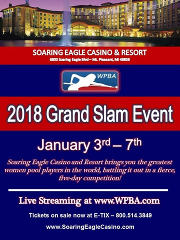 2018 WPBA Grand Slam Event Poster