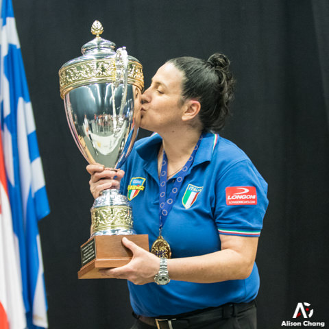 2018 The 40th EC - 9 Ball Winner Ladies Cristina Moscetti