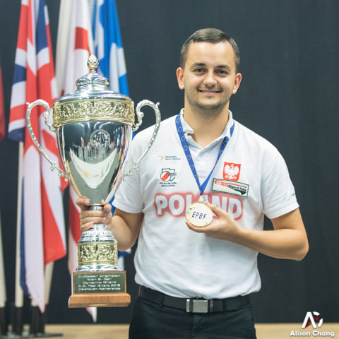 2018 The 40th EC - 9 Ball Winner Men Konrad Juszczyszyn