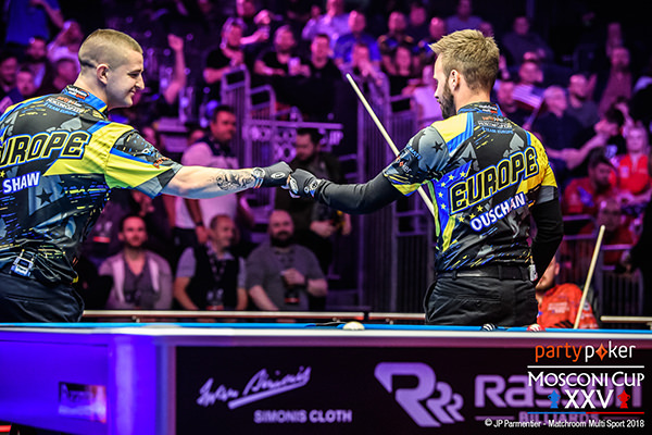 2018 Mosconi Cup - Day 1 Albin Ouschan and Jayson Shaw