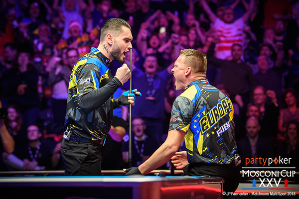 2018 Mosconi Cup - Day 3 Klenti Kaci and Niels Feijen