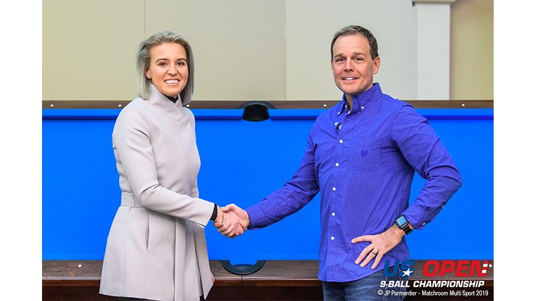 2019 US Open 9-Ball Championship - Diamond is Official Table of 43rd US Open (Emily Frazer and Chad Sharlow) 777x437