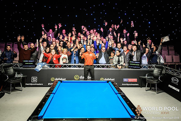 2019 World Pool Masters XXVI DAY 3 - Final David Alcaide with fans