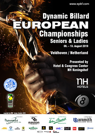 2019 European Championships Seniors & Ladies poster
