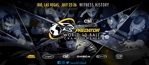 2019 Predator World 10-Ball Championship banner w480