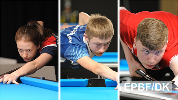 2019 European Championships Youth - Sevastyanov eliminated Jastrzab from the 9-ball individuals