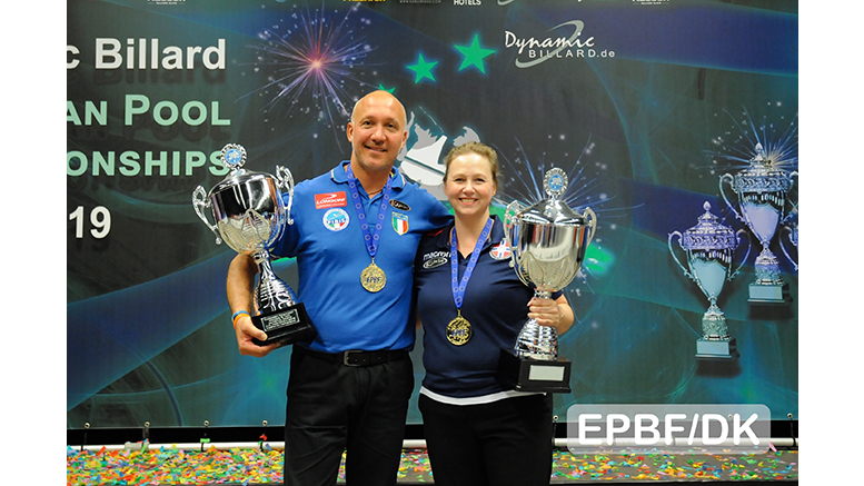 2019 European Championships Seniors & Ladies - Helvik and Sini take the final Gold medals in 9-ball individuals 777x437