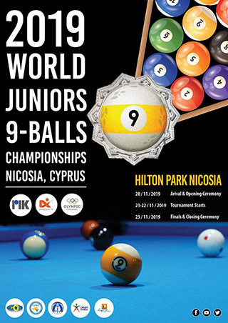 2019 Juniors World 9-Ball Championship poster