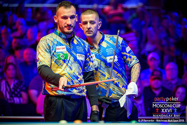 2019 Mosconi Cup XXVI - DAY 1 Alex Kazakis and Jayson Shaw