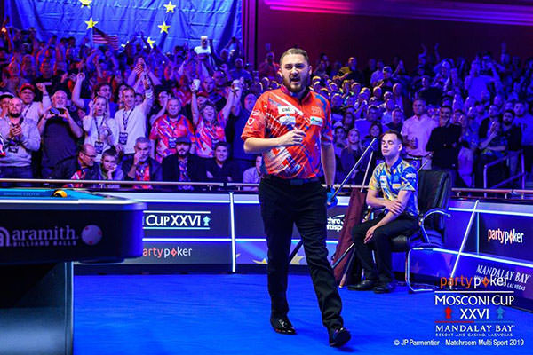 2019 Mosconi Cup XXVI - DAY 4 Skyler Woodward and Joshua Filler