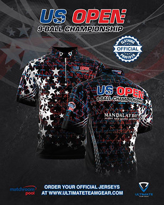 2020 US Open Pool Championship - Official Jersey Black w320