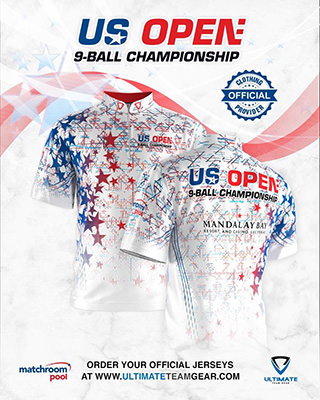 2020 US Open Pool Championship - Official Jersey White w320